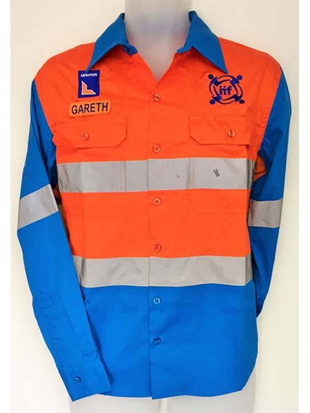 Hi-Vis Cotton Drill Work Shirt for Leightons