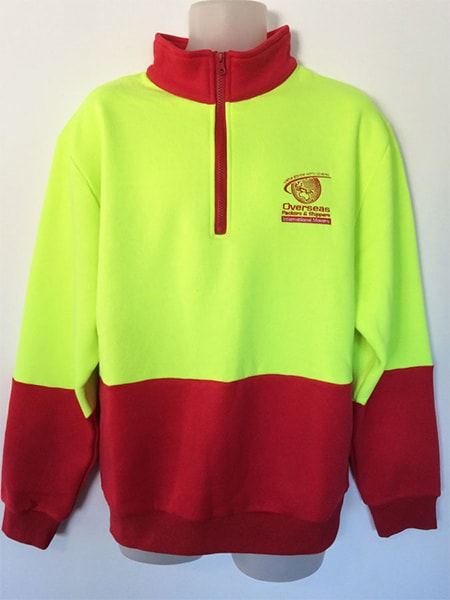 Hi-Vis Windcheater for Overseas Packers & Shippers - Custom Made Uniforms - Workwear